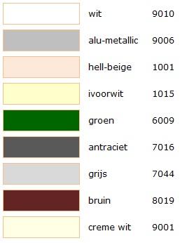kleuren pallet